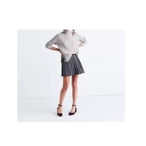 NWT Madewell shimmer pleated mini skirt 8